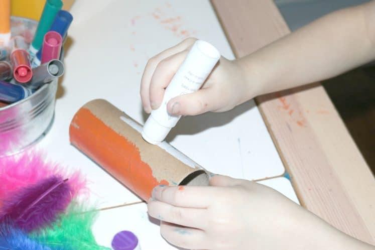 preschooler painting craft roll
