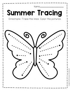 Tracing Summer Preschool Worksheets 1