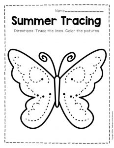 Tracing Summer Preschool Worksheets 2