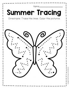 Tracing Summer Preschool Worksheets 3