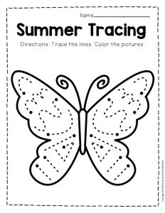 Tracing Summer Preschool Worksheets 4