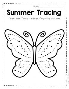Tracing Summer Preschool Worksheets 5