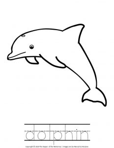 Under the Sea Coloring Pages Dolphin