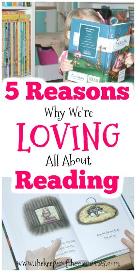 collage of children reading with text: 5 Reasons Why We're Loving All About Reading