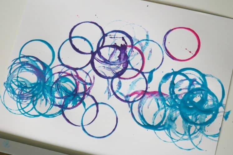 toddler's caterpillar art painting
