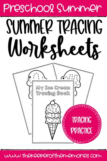 My Ice Cream Tracing Book Summer Tracing Worksheets