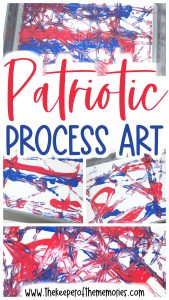 collage of patriotic process art images with text overlay: Patriotic Process Art