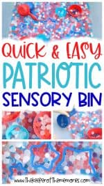 Quick & Easy 4th of July Sensory Bin