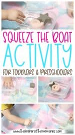Squeeze the Boat Activity for Toddlers & Preschoolers