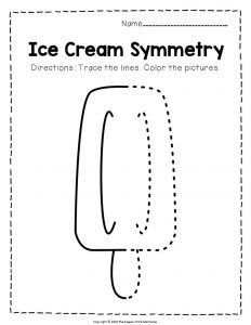 Ice Cream Symmetry Creamsicle Summer Activities Worksheets