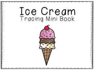 Ice Cream Tracing Mini Book