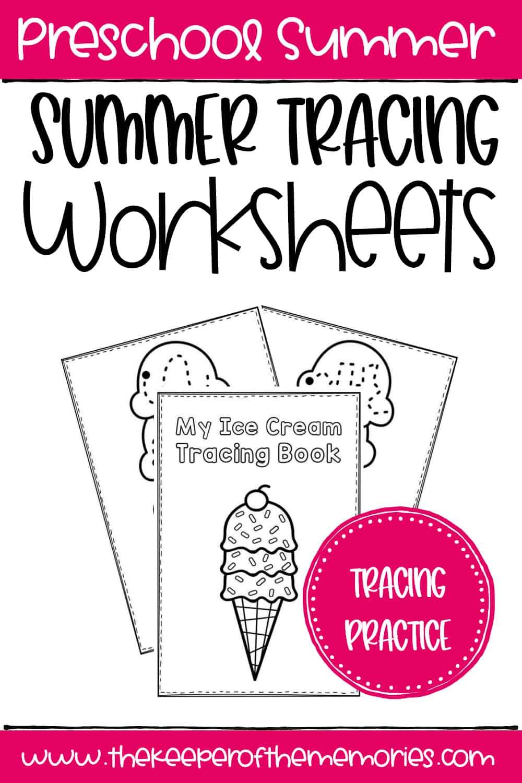 Free Printable Summer Tracing Worksheets