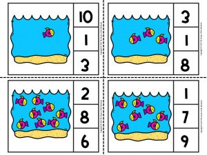 Printable Ocean Counting Clip Cards