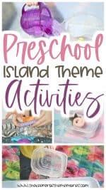 Preschool Island Theme Activities for Little Kids
