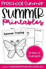 Summer Printables for Preschoolers & Kindergartners