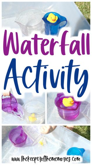 collage of waterfall activity images with text: Waterfall Activity