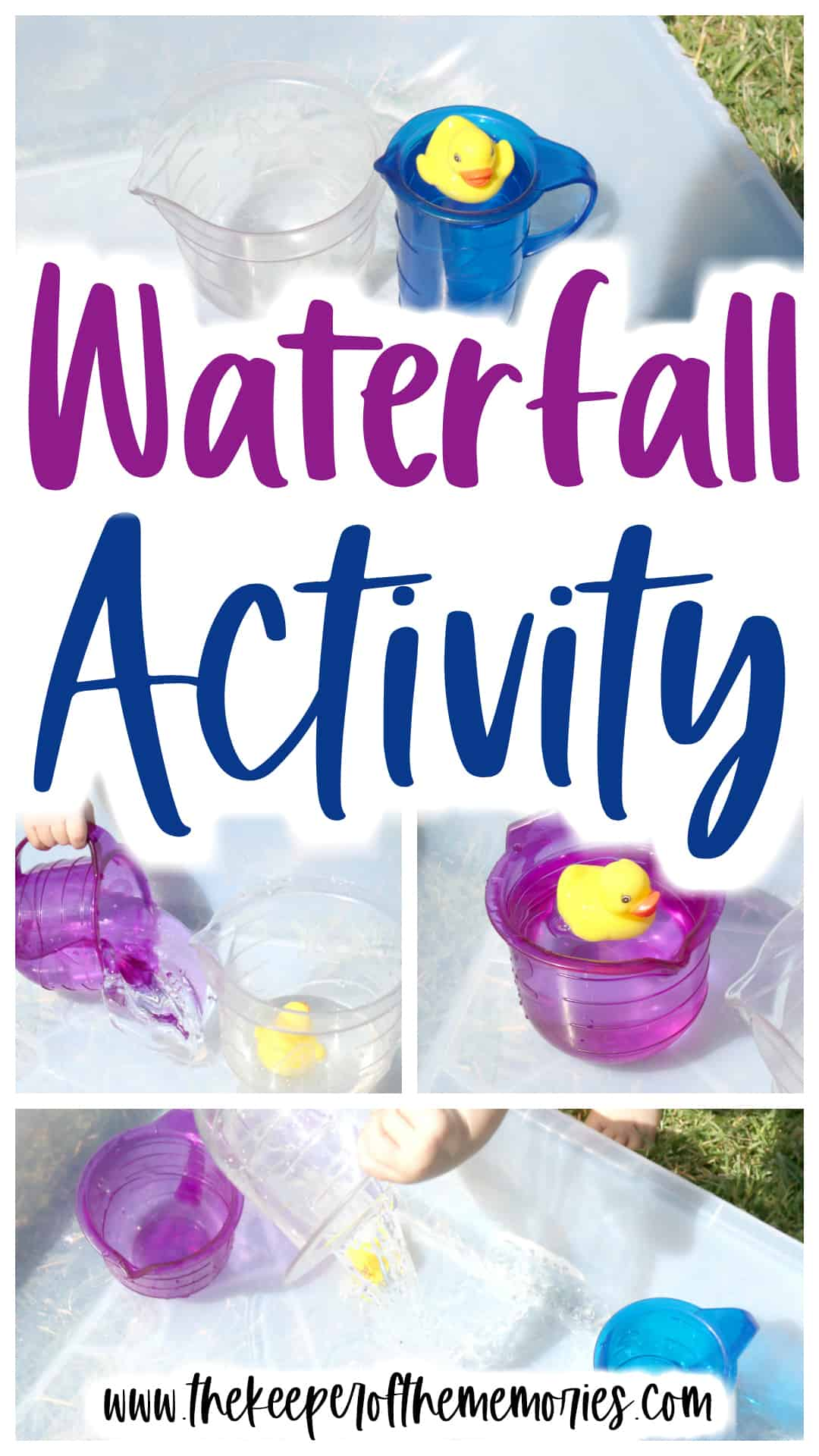 Pour A Waterfall Activity for Toddlers & Preschoolers