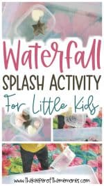 Waterfall Activity for Preschool Water Theme