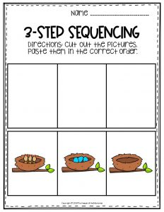 Birds & Eggs Sequence Story Printable