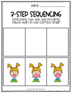 Bubble Gum Sequence Story Printable