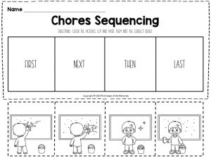 Chores Sequencing Worksheets Cleaning Windows