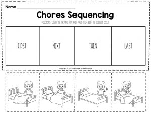Chores Sequencing Worksheets Making Bed