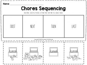 Chores Sequencing Worksheets Putting Away Toys