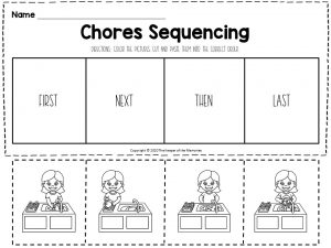 Chores Sequencing Worksheets Washing Dishes