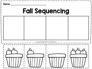 Apple Picking Fall Sequencing for Kindergartners