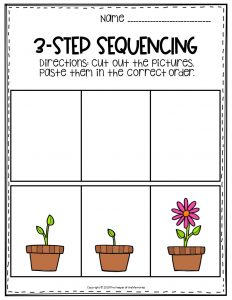 Flower Sequence Story Printable