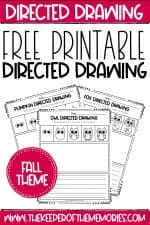 Free Printable Fall Directed Drawing