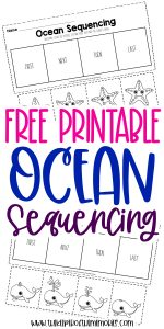 Free Printable Ocean Kindergarten Sequencing Worksheets