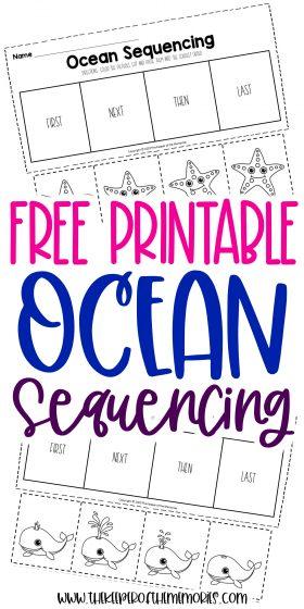 Free Printable Ocean Kindergarten Sequencing Worksheets The Keeper Of The Memories - Download Free Printable Number Sequencing Worksheets For Kindergarten Images