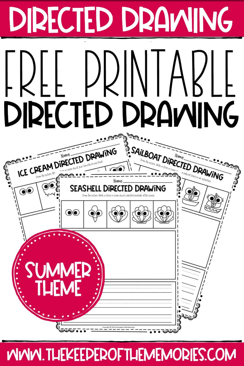 Free Printable Summer Directed Drawing