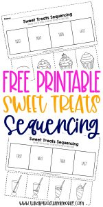 Free Printable Sweet Treats Sequencing Worksheets for Preschoolers