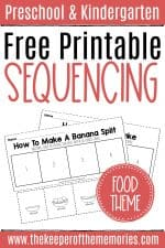 Free Sequencing Cut and Paste Worksheets