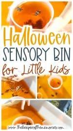 Halloween Sensory Bin for Little Kids