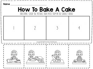 How To Bake A Cake Sequencing Worksheet