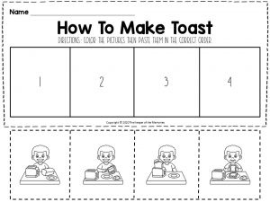 How To Make Toast Sequencing Worksheet