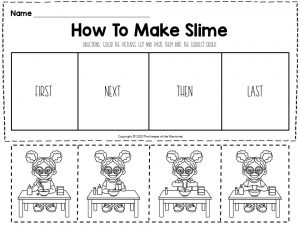 How To Sequencing Worksheets Make Slime