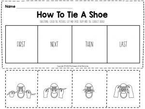 How To Sequencing Worksheets Tie A Shoe