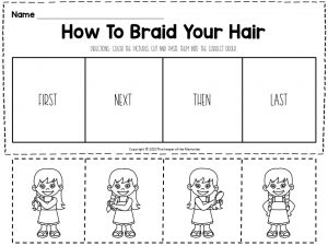 Hygiene Sequencing Worksheets How To Braid Your Hair