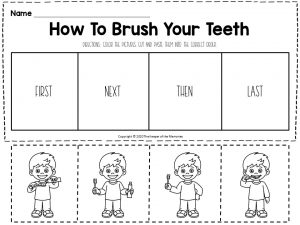 Hygiene Sequencing Worksheets How To Brush Your Teeth