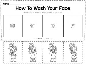 Hygiene Sequencing Worksheets How To Wash Your Face