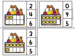 Printable Island Ten Frame Clip Cards