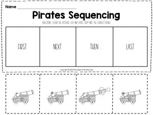 Pirates Sequencing Worksheets Cannon
