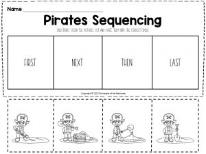 Pirates Sequencing Worksheets Treasure