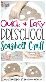 Seashell Preschool Craft