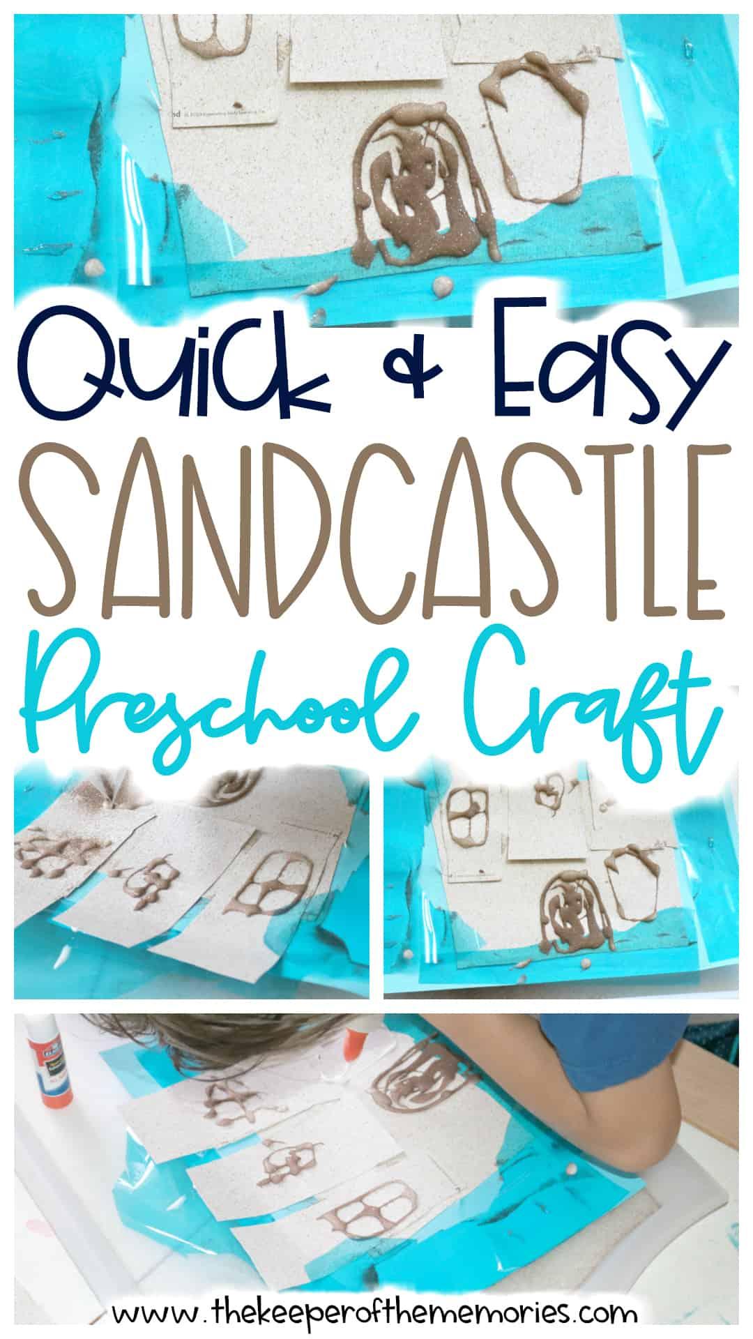 Sandcastle Preschool Craft