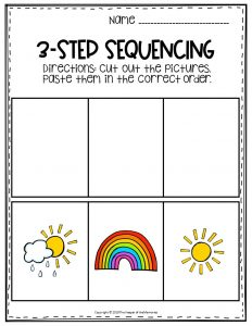 Rainbow Sequence Story Printable